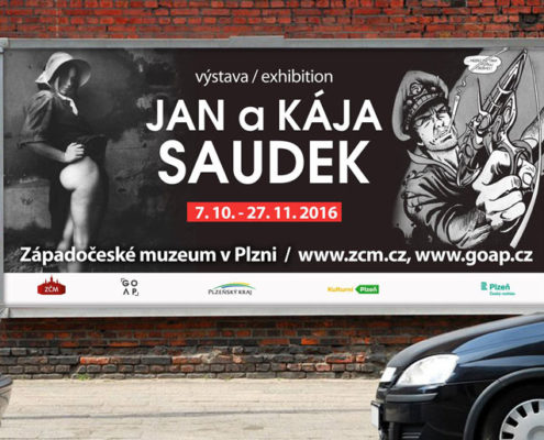billboard - Jan a Kája Saudek - stickylabel