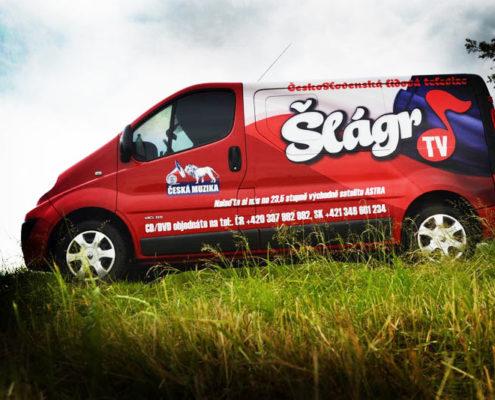 polep automobilu - Slagr TV